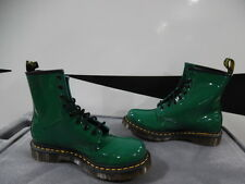 New Womens Dr. Martens 1460 Patent Green 8 Eye Ankle Boots L8/EU39 (J275)