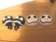 2x25/20 and 2x 27/20  NIGHTMARE BEFORE XMAS FLATBACK RESIN2 WHITE 2 BLACK