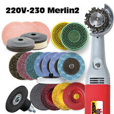 MERLIN 2  DELUXE WOODCARVING TOOL WORLDS SMALLEST CHAIN SAW 220 VOLT #10112