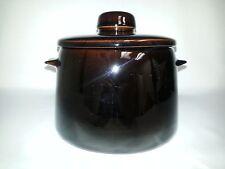 West Bend Pottery Jug  Bean Crock Cookie Jar Vintage USA Dark Brown/Black Pot