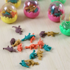 1 set of Lot Tiny Dinosaurs Pencil Eraser in Egg Collectibles Stationery Toys SY