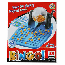FAMILY BINGO AND LOTTO LOTTERY NUMBERS MACHINE GAME 90 NUMBERED BALL & 24 CARDS