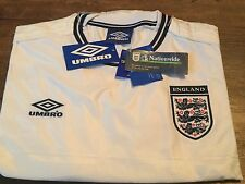 1999 2001 England BNWT New Home Football Shirt Adults XXL 2XL Jersey