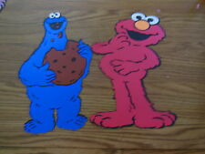 Elmo and Cookie monster die cuts,sesame street,party,banner,birthday, 10""