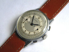 VINTAGE GREENWICH CHRONOGRAPH PULSOMETER SCALE VALJOUX 22 S.STEEL CA1940