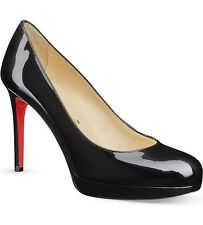Christian Louboutin New Simple Pump 120 Patent Heels Black Shoes Courts Uk5 Eu38