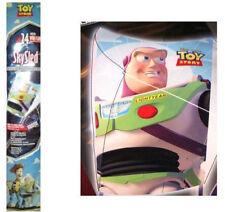 """DISNEY TOY STORY BUZZ LIGHTYEAR Kids 24"""" Wide FLYER SKY Poly SkySled Kite NIP"""