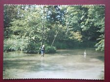 POSTCARD SOCIAL HISTORY CHILD IN THE STREAM