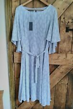 Laura Ashley Silver Grey Tea Dress  Dress sz 12 NEW with Tags Originally  £ 110.
