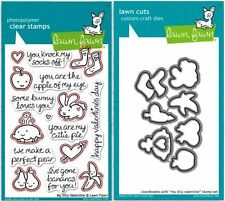 Lawn Fawn Photopolymer Clear Stamps-16ct +Dies MY SILLY VALENTINE ~LF332, LF907