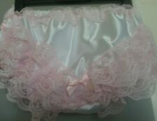 Ultra Frilly White Satin Ruffled Panties Sissy CD TV TG