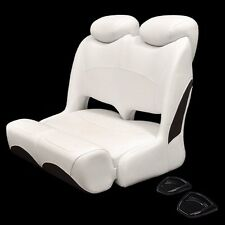 Crownline 46334400 White Black Marine Boat Double Wide Bolster Bench Seat