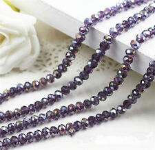 New 70pcs Jewelry Multicolor 6x8mm Crystal A Purple Beads 024