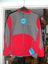 NWT COLUMBIA Men's Nordic Trekker Fleece Twill Jacket Coat Red Gray medium $160_