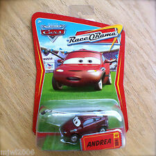 Disney PIXAR Cars ANDREA Race O Rama World of Cars diecast #89 BOOM MIC PRESS