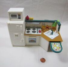 Fisher Price Loving Family Dollhouse KITCHEN UNIT Stove Oven Microwave Fridge
