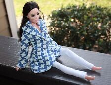 Clothes for Barbie Doll. Houndstooth print jacket and leggings for Dolls.