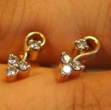22kt Yellow Gold Diamond Earrings F/VVS2 HIGH END EARRINGS LOW END PRICES