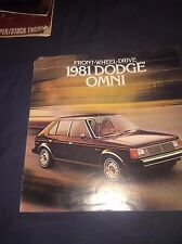 1983 Dodge Omni Color Sales Brochure Prospekt