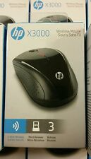 NEW HP X3000 2.4GHZ Wireless Optical Mouse H2C22AA#ABL Retail BOX