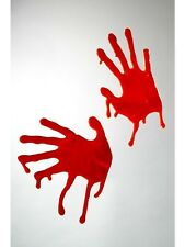 Horrible Bloodied Red Hands for window decoration Crimne Scene Mens Fancy Dress