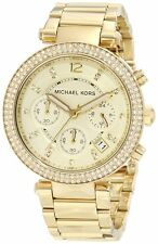 Michael Kors MK5354 Parker Gold Tone Chronograph Ladies Wrist Watch FreeShipping