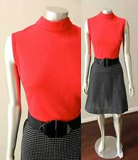 Scooter Mod Go go Vintage 60s 70s Checker Mini red Black Party  Dress Sz M
