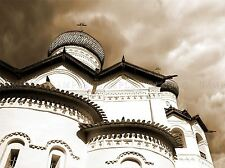 ORTHODOX CHURCH SEPIA ARCHITECTURE PHOTO ART PRINT POSTER PICTURE BMP815A