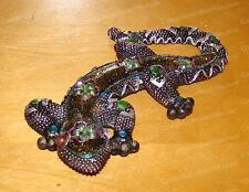 348 - MOSAIC, Bejeweled GECKO (Lizard) Figurine, Wall Decor
