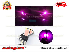 2 X COB Chip LED T10 Parking Bulb Super Bright Light for Cars - PURPLE