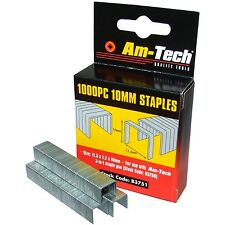 1000 x 10 mm Quality Staples for Staple Gun Office Wall Stapling
