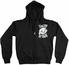 You Me At Six Happy Cloud Hooded Zip Up Hoodie (Size S, M, XL or 2XL)