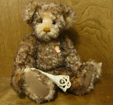 "Knickerbocker #118047 CAMILLE 15"" Jointed Mohair bear, NEW from Retail Store"
