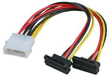 Molex to 2 x RIGHT ANGLE SATA DUAL INTERNAL Hard Drive Power CABLE ADAPTER