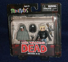 The Walking Dead MiniMates Series 4 HOODED MICHONNE & GABE Action Figure 2 PK