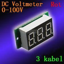 DC 0-100V Rot Led Digital Voltmeter Spannungsmesser Voltanzeige Panel Meter