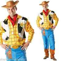 Mens Deluxe Disney Woody Toy Story Cowboy Toy Fancy Dress Costume Outfit STD XL