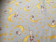 Cotton Fabric  - Bunny & The Moon -  Cotton Voil Fabric