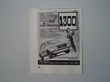 advertising Pubblicità 1967 FIAT ABARTH  1300