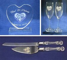 Nightmare before Christmas Wedding Glasses knife server cake topper set engraved
