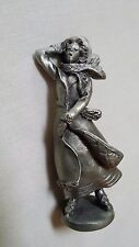 Hudson Pewter 1987 Larocca Miniature The Villager Alice Ice Skating #4207