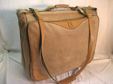 Hartmann Suede Leather Limited Edition Rolling Wheeled Luggage Garment Bag