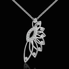 925 Sterling Silver Necklace Pendant Zirconia B46