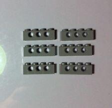 LEGO 3701 Gris Technic Lot de 6 Brique Poutre Trou 1x4 Brick Holes Grey