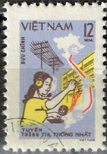 Vietnam War Viet Cong Army Woman Phone Security Trail Map 1973 stamp
