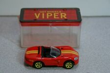 1992 Hot Wheels Red Dodge Viper w/ Plastic Display Box