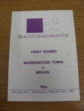 09/02/1986 Workington ville v wigan [challenge cup] rugby league programme officiel