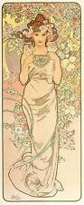 The Rose by Alphonse Mucha A1 High Quality Canvas Art Print
