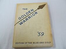 1959 Blue & Gold Golden Warrior STERLING TOWNSHIP HIGH SCHOOL, IL Yearbook  Y126