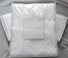 New Sferra 3PC Wedding Ring Coverlet Set Matelasse Quilt 100% Cotton White Queen